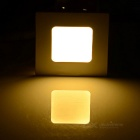 3W Square LED Panel / Ceiling Light Warm White 128lm 15-SMD - White