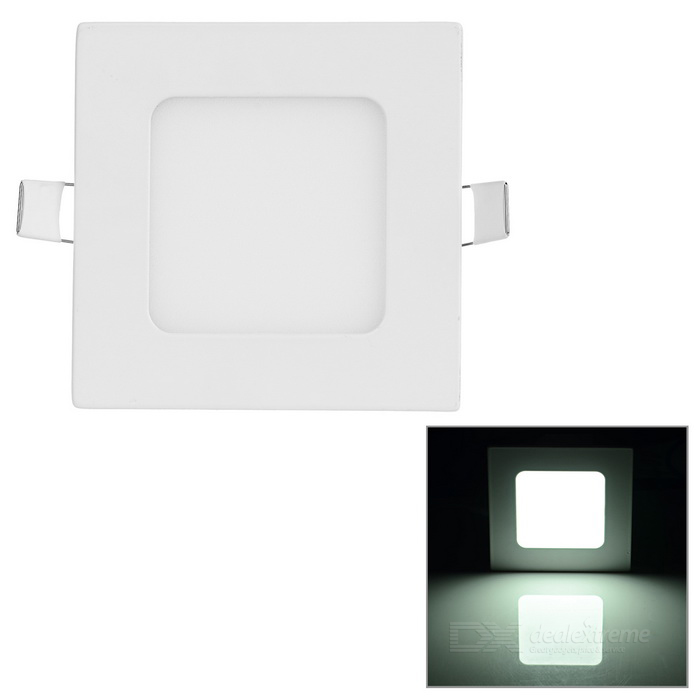 6W Square LED Panel / Ceiling Light White 6000K 277lm 30-SMD - White
