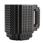 DIY Creative Building Block Puzzle Mug - Black