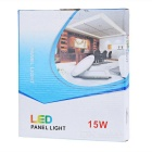 15W Round LED Panel Lamp / Ceiling Light White 6000K 804lm 75-SMD 2835 - White (AC 85~265V)
