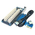 PCI-E To Dual PCI Riser Card Adapter - Blue