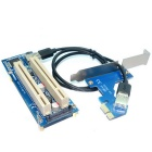 PCI-E till Dual PCI Riser Card Adapter - Blå
