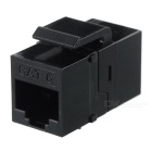 CY UT-007 Female to Female UTP CAT6 Keystone Coupler Adapter - Black
