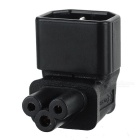 CY PW-143 3Pin Male C14 to Micky C5 90' Angled Power Adapter - Black