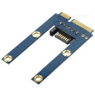 CY SA-190 Mini PCI-E mSATA SSD to SATA 7pin HDD PCBA Adapter - Blue