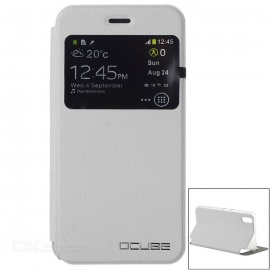 OCUBE Protective PU Case Cover w/ Stand for Ulefone Paris - White