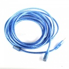 USB 2.0 Male to Female Data Extension Cable w/ Magnetic Ring for Computer - Blue (5m)