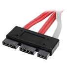 CY SFF-8639 SATA 3.2 Express 18pin Data Cable - Black + Red (30cm)