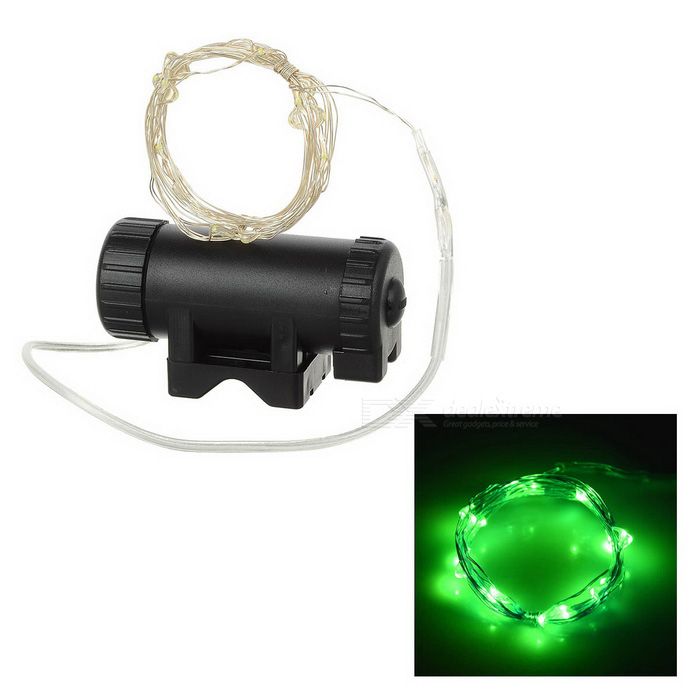 Leadbike Green Light 2-Mode 20-LED Bike Wheel Spoke Light - Black