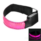 CTSmart Outdoor Ciclismo Reflexivo Rosa Light 3-Mode LED Aviso de Segurança Strap Arm Band - rosa