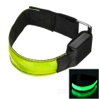 CTSmart Outdoor Ciclismo Reflective Green Light 3-Mode LED Aviso de Segurança Strap Arm Band - Verde