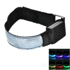 CTSmart Outdoor Cycling Reflective Colorful Light 3-Mode LED Safety Warning Strap Arm Band - Silver