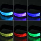 CTSmart Colorful Light 3-Mode LED Safety Strap Arm Band - Silver