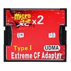 CY EP-093 Dual TF Micro SD to Type I Compact Flash Card CF Reader Adapter for Nikon Cannon Camera