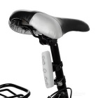 Waterproof 7-Mode 5-LED Red Light Bike Bar Light Taillight - White