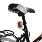 RGB 9-LED bicicleta de seguridad de advertencia de cola de la lámpara - blanco
