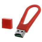 Mini Keychain Style USB 2.0 Card Reader - Red