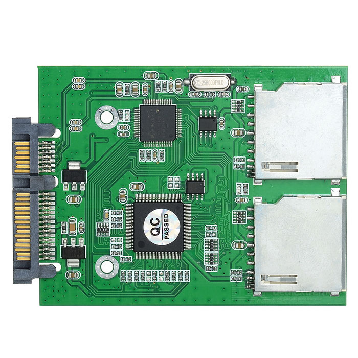 CY SA-176 dual SD SDHC card MMC per 22pin SATA Kit convertitore maschio