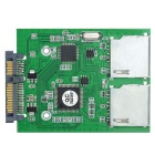 CY SA-176 Dual SD SDHC MMC Memory Card to 7+15 Pin 22pin SATA Male Convertor Kit RAID0 Adapter