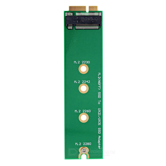CY PCI-E 2 Lane M.2 NGFF SSD to ASUS / SANDISK Adapter Card - Green