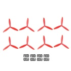 4 Pares 3-Blade 6045 Propeller Props CW / CCW Para 250MM Quadrotor Multi-Copter - Red