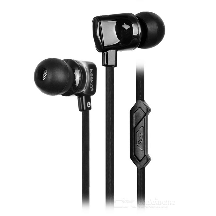 KEEKA EE-63 Wired In-Ear Earphone w/ Remote, Mic - Black (3.5mm)
