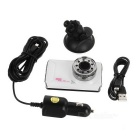 "F002 3.0"" CMOS 170' 12MP Car DVR w/ 9 LEDs / IR Night Vision - White"