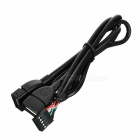 CY U2-329 10Pin Motherboard to 2-USB 2.0 Adapter Cable - Black (50cm)