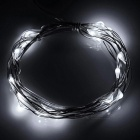 1W 60lm 6000K White 20-LED Holiday Party String Light - White (2m)