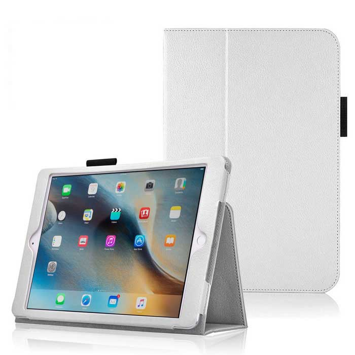 "Protective PU Leather Case w/ Stand for IPAD PRO 12.9"" - White"