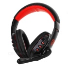 VYKON Bluetooth Voice Headphone w/ Microphone Voice Dialing & Prompt - Black + Red