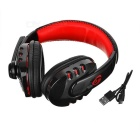 VYKON BT Voice Headphone w/ Mic, Voice Dialing & Prompt - Black + Red