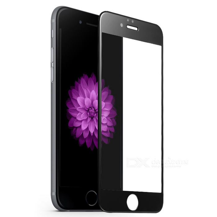 3D Curved Full Cover Mirror Tempered Glass Screen Protector Guard for IPHONE 6S - Black