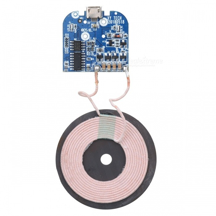 Plug & Play DIY Qi Wireless Charging Transmitter w/ Indicator - Blue