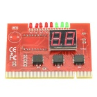 PC POST Diagnostic Test Card Motherboard Analyzer for PCI 4 Digits - Red