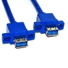 USB 3.0 19Pin to 2-Port Standard A Female Cable - Sky Blue (0.8m)