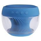 Portable Colorful LED Wireless Bluetooth V2.1 Speaker w/ Mic. / FM / TF / USB / Hands-free - Blue