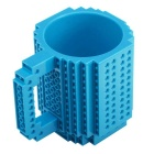 DIY Creative Building Block Puzzle Mug - Blue