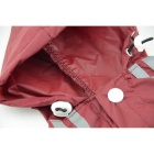 Glisten Bar Hoody Waterproof Raincoat Pet Dog Cat Jackets - Red (XXL)
