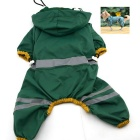 Glisten Bar Hoody Waterproof Raincoat Pet Raincoat Dog Cat Rain Jackets - Green (XL)
