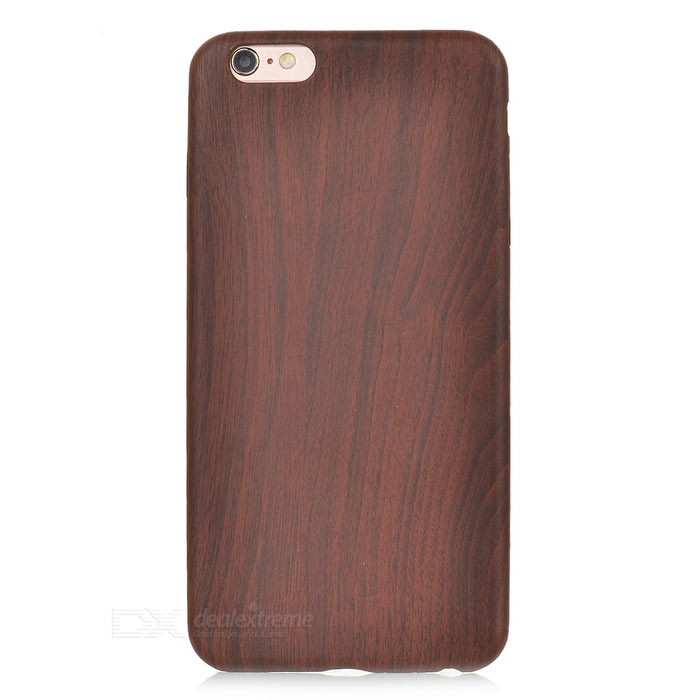 S-What Wood Grain Pattern Back Case for IPHONE 6 PLUS - Dark Brown