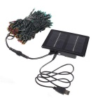 3.7V 1800mAh Solar Powered Colorful Light 200-LED String Light w/ USB Charging Cable - Black (DC 5V)