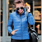 Women's Ultra Light Thin Down Jacket Coat - Sapphire Blue (M)