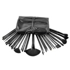 Cosmetic Facial Make up Brush Kit Wool Goat Hair Makeup Brushes Tools Set/Synthetic Leather Case