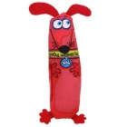 Pet Dog Soft Canvas Chew Toy - Red