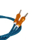 Gourd-Shape Connectors 3.5mm Line-in Audio Cable - Black + Blue (1m)