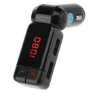 BC06 Bluetooth Hands-free Car Charger MP3 AUX Player / FM Transmitter - Black