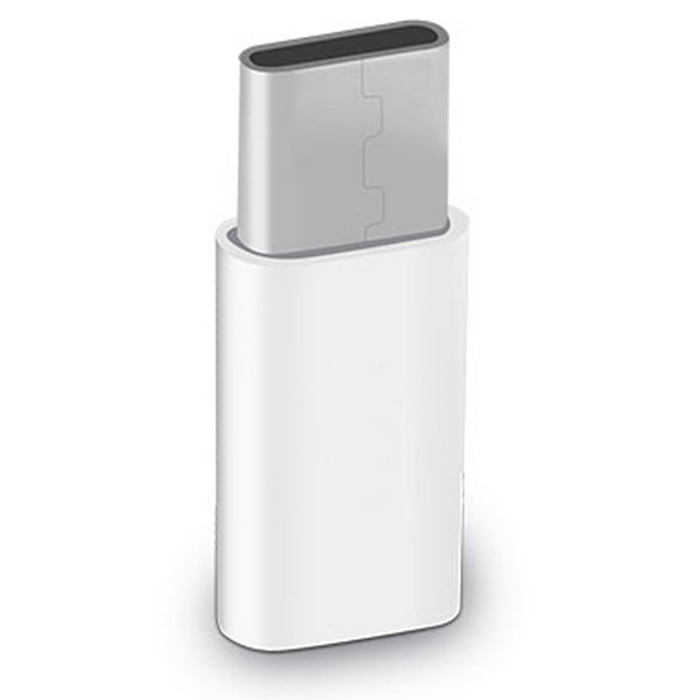 Hat-Prince USB 3.1 Type-C to Micro USB Converter Adapter - White