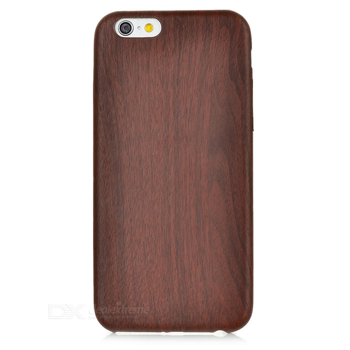 S-What Wood Grain Pattern Back Case for IPHONE 6 / 6S - Dark Brown