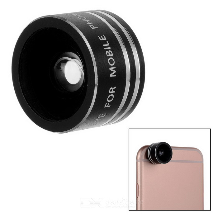 Universal Magnetic 180-Degree Fish Eye Camera Lens for Phone - Black
